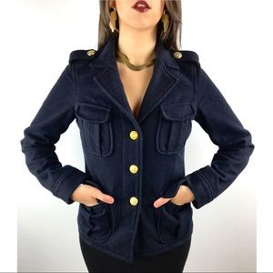 VTG URBAN OUTFITTERS navy wool military jacket
